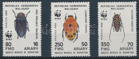 1988 WWF Rovarok Mi 1158-1160