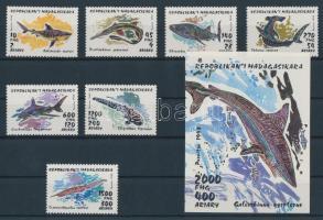 1993 Cápák sor Mi 1527-1533 + blokk Mi 210