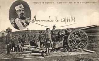 WWI Bulgarian artillery, cannon, General Nikiforov, Első Világháborús bolgár tüzérség, ágyú, Nikiforov hadnagy