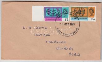 1965 20 éves az ENSZ Mi 404x-405x FDC