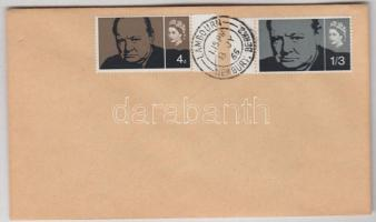 1965 Churchill Mi 384x-385x FDC