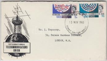 1965 Nemzetközi Távközlési Unió Mi 406y-407y foszforos