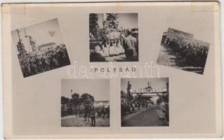 Sahy, entry of the Hungarian troops, Ipolyság, a magyar csapatok bevonulása