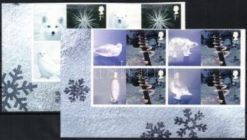 2003 Állatok, jég állatszobrok Mi 2164 II-2165 II négyestömbök