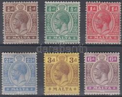 1914 Mi 41-43 + 45-46 + 48