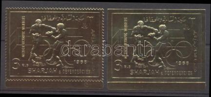 1968 Mexikói olimpiabajnokok fogazott és vágott bélyeg Mi 525 A-B