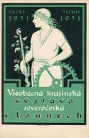 Louny vidék kiállítás 1931, Jaroslav Marík plakát, Louny region Expo 1931, Jaroslav Marík's placard