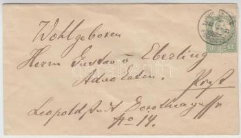 1873 3kr díjjegyes boríték helyi levélként BUDAPEST FŐPOSTA - Pest
