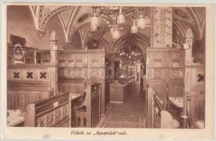 Budapest V. Apostolok söröző, fülkék