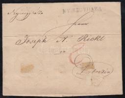 1827 Portós levél NYIREGYHAZA - Debrezin (kis szakadás)