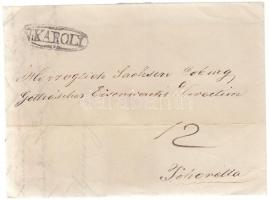 1843 Portós levél / cover with postage due N:KÁROLY - Pohorella