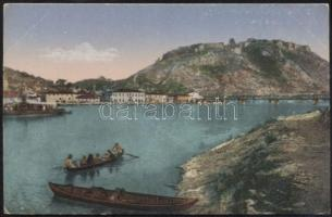 Shkodra castle, lake and boats