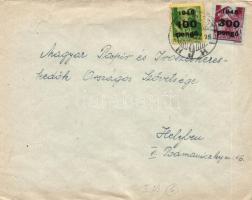 1946 (6. díjszabás) Helyi levél Kisegítő (III.) 100P/12f + 300P/30f bérmentesítéssel