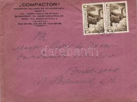 1946 (6. díjszabás) Helyi céges levél 2x Újjáépítés 200P bérmentesítéssel