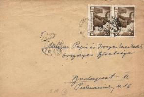 1946 (6. díjszabás) Helyi levél 2x Újjáépítés 200P bérmentesítéssel