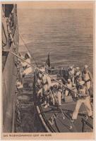 Prizenkommando geht an bord / Germnan navy, prize crew go to board, Német haditengerészek, hadihajó