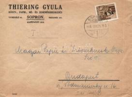1946 (6. díjszabás) Távolsági céges levél Betűs I. Tl.I./10f bérmentesítéssel