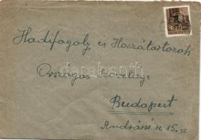 1946 (6. díjszabás) Távolsági levél Betűs I. Tl.I./10f bérmentesítéssel