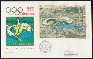 1972 Olimpia blokk Mi 7 FDC