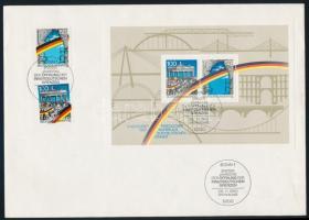 1977-1990 4 klf blokk FDC