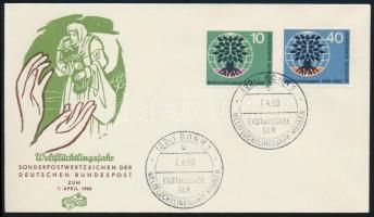 1960 Menekültek éve Mi 326-327 FDC