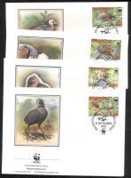1992 WWF: Pritchard dzsungel tyúk Mi 233-236 + 4 db FDC