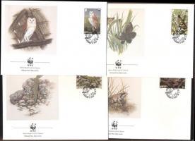 1989 WWF: Ritka állatok Mi 480-483 + 4 db FDC