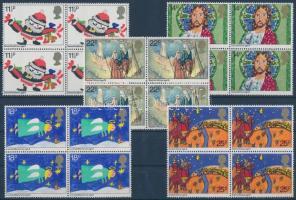 1981 Karácsony sor négyes tömbökben Mi 895-899