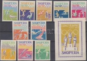 1964 Nyári olimpia, Tokió sor Mi 870-879 + blokk Mi 26 B