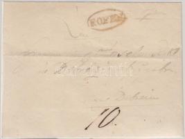 1840 Portós levél F.OFEN - DEBREZIN
