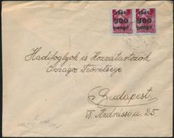 1946 (6. díjszabás) Távolsági levél 2x Kisegítő 300P bérmentesítéssel