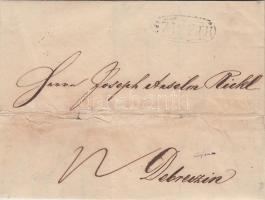 1847 Portós levél SZIGETH - DEBRECZEN