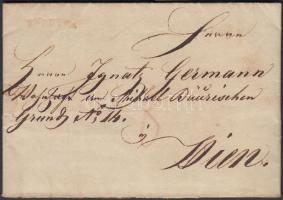 1829 Portós levél / cover with postage due V NEUTRA - Wien
