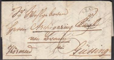 1849-1871 Portós levél / cover with postage due SZALABÉR - KÖRMEND - Güssing