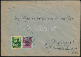 1946 (6. díjszabás) Helyi levél Kisegítő 100P/12f + 300P/30f bérmentesítéssel