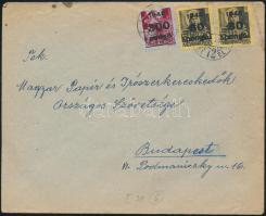 1946 (6. díjszabás) Helyi levél Kisegítő 2x 60P/18f + 300P/30f bérmentesítéssel
