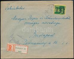 1946 (6. díjszabás) Ajánlott helyi levél Kisegítő 100P/12f + 5x 300P/30f bérmentesítéssel