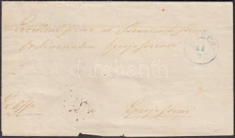1870 Ex offo kék / blue PALOCSA - EPERJES