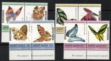 1985 Pillangók ívszéli sor párokban Mi 732-739 SPECIMEN