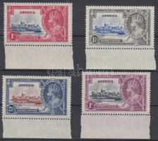 1935 V. György trónralépésének jubileuma ívszéli sor Mi 71-74