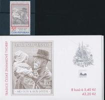 2000 Hagyományos Cseh Bélyegkiállítás Mi 242 + bélyegfüzetek MH 80