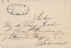1841 Portós levél / cover with postage due V.MISKÓLCZ - Pohorella