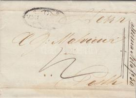 1840 Portós levél / cover with postage due V.MISKÓLCZ - PESTH