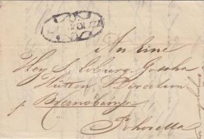 1843 Portós levél / cover with postage due V.MISKÓLCZ - Pohorella