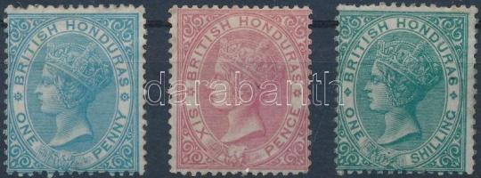 Brit Honduras 1865 Forgalmi sor Mi 1-3
