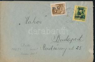 1946 (7. díjszabás) Távolsági levél Betűs I. Tl.I./10f + kisegítő 5P/80f bélyegekkel, tévesen a 6. díjszabás szerint bérmentesítve
