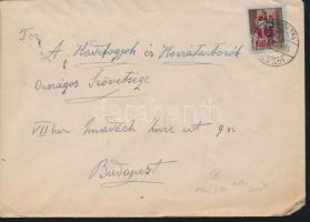 1946 (7. díjszabás) Távolsági levél Betűs Tl.2./10f bérmentesítéssel