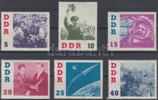 1961 Űrrepülés sor Mi 863-868