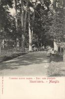 Manglisi, park, route principale