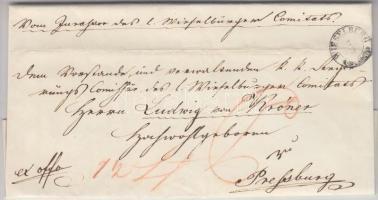 1850 Ex offo WIESELBURG - PRESBURG